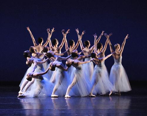 Boston Ballet in George Balanchine's 'Serenade'. Photo:Gene Schiavone