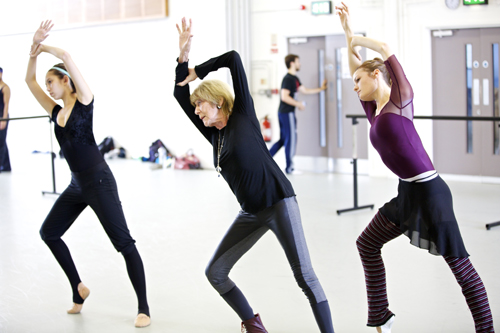 Gillian Lynne in rehearsals with BRB dancers. Photo: Andrew Ross